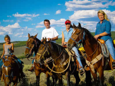 family-horseback-riding